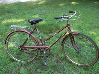 Vintage Ladies 3 Speed Ross Europa 3 Street Bicycle 26 Copper Color