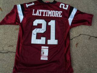 MARCUS LATTIMORE SIGNED SOUTH CAROLINA GAMECOCKS UNDER ARMOUR JERSEY