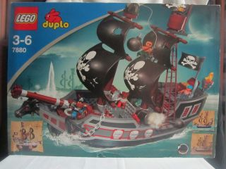 Lego Duplo Big Pirate SHIP Boat Lot Set 7880 People New in Box Retired