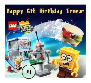 Lego Spongebob Edible Cake Cupcake Cookie Toppers