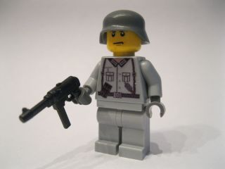 Lego WW2 German Soldier with MP 40 Custom Decaled Good Decal