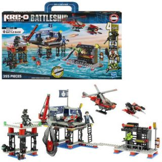 Kre o Battleship 38974 BATTLE BASE 355 piece Lego Style set with 4
