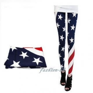 Fashion Women USA American Flag Leggings Tights Legwear pants one size