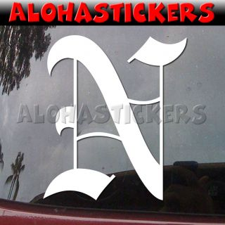 Old English Letter Vinyl Decal Car Truck Sticker U28