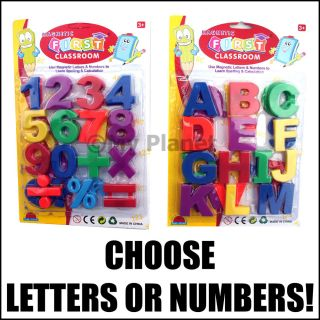 Childrens Learning Kids Magnetic Letters or Numbers Pick New