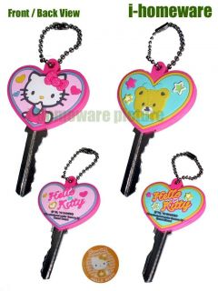 Hello Kitty Sanrio License 2X Key Cap Chain Covers H372