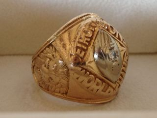 1957 Detroit Lions NFL Championship Ring 14K Gold Diamond Superbowl