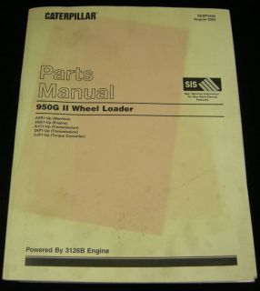 Cat Caterpillar 950G II Wheel Loader Parts Manual