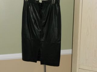Lora Women Black Leather Skirt US Size 8