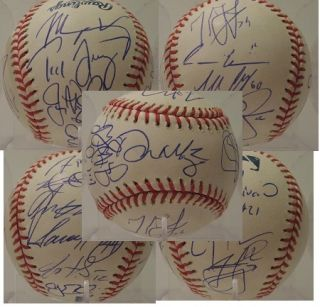 2012 Los Angeles Dodgers team signed oml baseball Kemp Kershaw Ethier