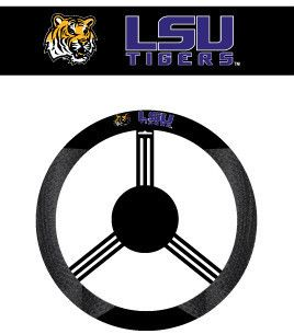 LSU Tigers Mesh Poly Suede Car Auto Steering Wheel Cover