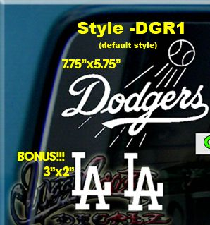 Los Angeles Dodgers Baseball Vinyl Decal Sticker La L A