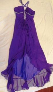 Purple Long Bead Prom Gowns Pageant Evening Formal Dresses