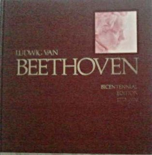 Ludwig Van Beethoven Bicentennial Edition 1770 1970 Hardcover Book