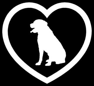Rottweiler Heart Sticker Dog Puppy Love Car Vinyl Decal