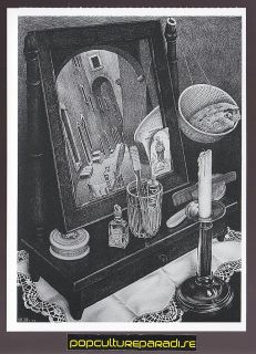Escher Still Life with Mirror 1934 Art Artwork Painting Postcard