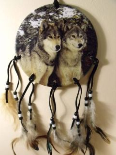 Dia Wolf Pack Wolves Dream Catcher Mandella Mandela Decor Art 2