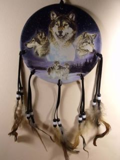Dia Wolf Pack Wolves Dream Catcher Mandella Mandela Decor Art 3