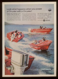 1969 Chrysler Marine Outboard Boat Motor Print Ad