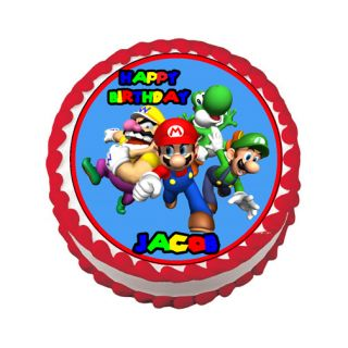 Mario Luigi Edible Cake Image Party Decoration Supplies