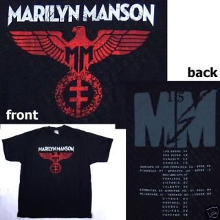 Marilyn Manson Spread Eagle Tour Back T Shirt Small New