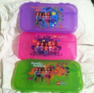LEGO Friends Minifigure Accessory Storage Clutch Pencil Box Case Set