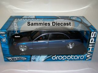 Hot Wheels Dropstars 1 18 RARE Black Blue Mercedes Maybach