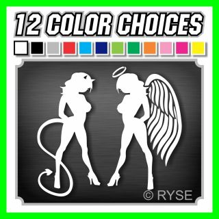 Skin Girl Decal Sexy So Cal Angel Devil Car Truck 4x4 Mudflap SoCal