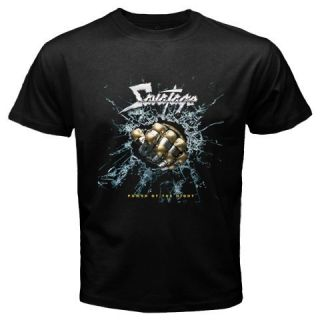 Savatage T Shirt Heavy Metal Band Black Tee Size s 3XL
