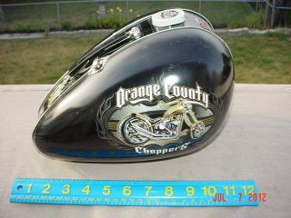 2004 Orange County Choppers OCC Motorcycle Gas Tank Shaped Metal Lunch
