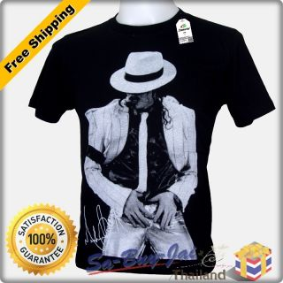 Shirt New Michael Jackson MJ V4 Signature King of Pop RTO Vtg Sz M L
