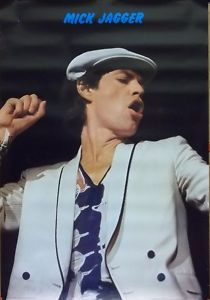 The Rolling Stones Mick Jagger Pin Stripes Poster 1978