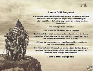 Drill Sergeant Poem Prayer Personalized Military Print