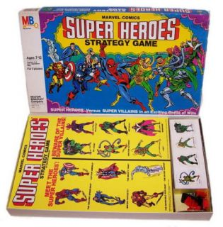 Spiderman Super Heroes Game Milton Bradley 1980 SEALED
