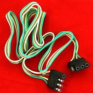 ft 4 Way Wire Flat TRAILER LIGHT EXTENSION CORD Plug