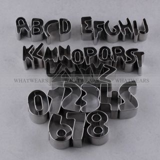 35pcs Number Alphabet Letter Cake Decorating Cookie Cutter Sugarcraft