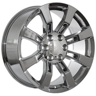 22 inch GMC truck Sierra Yukon Denali Chrome Rims Wheels