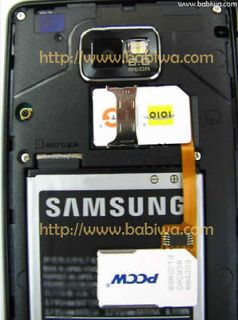 Dual 2 Sim Cards Adapter For Samsung Smartphone Galaxy S2 SII NOTE