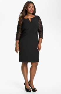 adrianna papell lace dress plus size