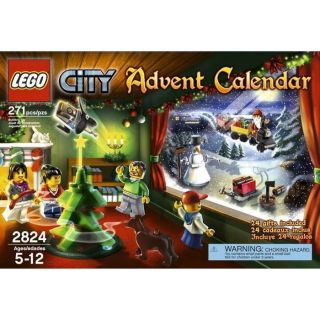 Advent Calendar Annual Edition Lego CITY Year 2010 #2824 271pcs Santa