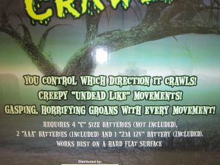 Animated Crawling Zombie Halloween Prop