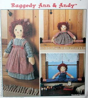 McCalls 8708 Raggedy Ann and Raggedy Andy Draftbusters & Doorstop