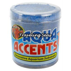 Zoo Med Aqua Accents Ballistic Blue Betta Fish Aquarium Gravel