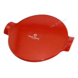 NEW Emile Henry 12 Red Pizza Stone For Oven/BBQ Grill France