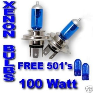 Audi 80 90 100 200 inc advant ULTRA XENON bulbs H4 100w