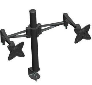 Way Dual Computer Monitor Desk Mount Swing Arm Adjustable Tilting
