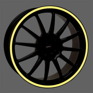 Wheel Rim Trim Tape Stripe Decal Motorcycle, Car fit 16 19 inch rims