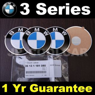 x4 Genuine BMW Adhesive Wheel Center Cap Emblem 3 Series E36 E30 Z3 64