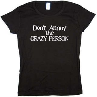Crazy Person Funny Jr Baby Doll Tee JUNIOR SIZE T SHIRT