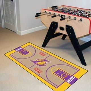 Los Angeles Lakers Basketball Court Runner Mat